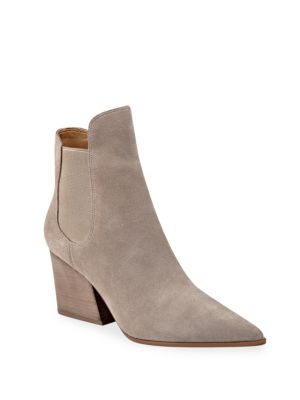 Beige Kylie Suede Booties Finley Kendall xYCqaIdw