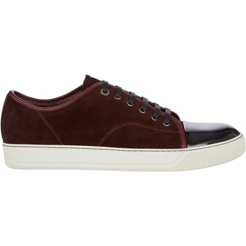Lanvin Patent Cap Toe Sneakers Dark Red XA0Z9UEh