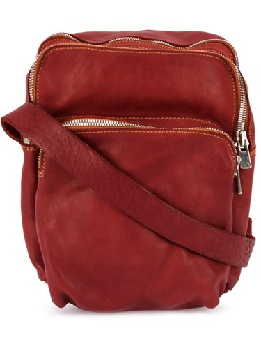 Guidi Zipped Shoulder Bag Red kAyQoz9