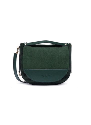 Bag Green Leather J W Shoulder Large Suede Anderson 'Moon' And qfawB8f