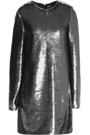 Anthracite Knit Stretch Sequined Dress Mini MSGM CwOP8q8