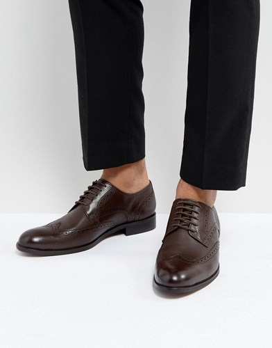 Dune Wing Tip Shoes Brown Leather Brown CsTDx