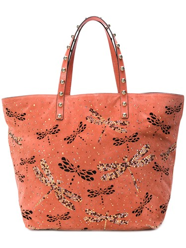 Pink Embellished Tote Dragonfly Purple RED And Valentino 6pI4F6qw