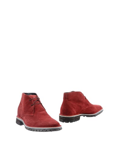 OPEN CLOSED Ankle Boots Brick Red fLPTxt4eyt