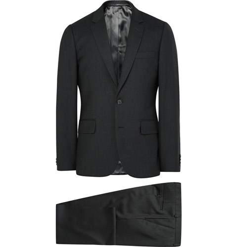Grey A Suit To Travel In Soho Slim Fit Wool Suit Gray