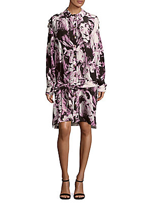 Shirtdress Silk Cavalli Multi Roberto Printed tqCSwnZBxa
