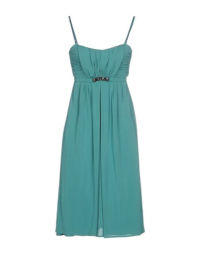 Paola Frani Pf Dresses Knee Length Dresses Women Green aJKIOai