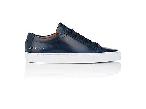 Leather Achilles Sneakers Common Men's Navy Projects Eq1pCt