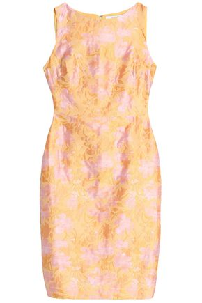 Crepe Yellow Mischka Stretch Dress Cutout Badgley 8qAwBxtw