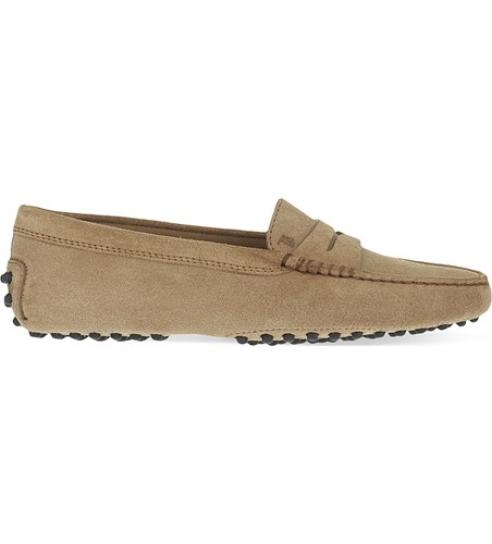 Tod's Mocassino Suede Loafers Taupe TQlZqOLyfX