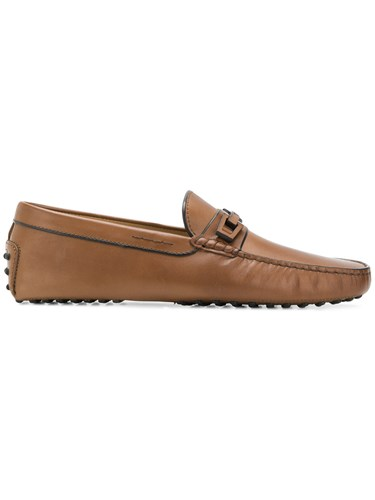 Sole Tod's Flat Classic Brown Loafers 744Fqp5w