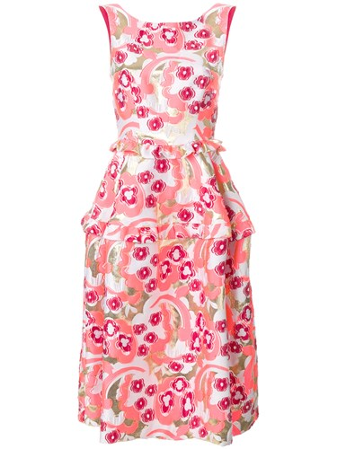 P.A.R.O.S.H. Layered Floral Dress Pink And Purple DLhOFBpS