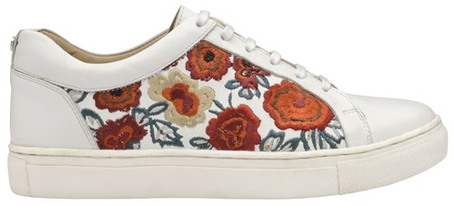 Garo Floral Lace White Up Ravel Trainers pwZSS