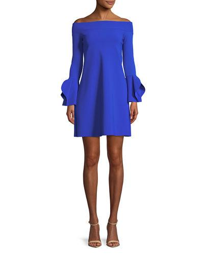 Chiara 938 Off Robe Petite Boni Berit Mini The Cocktail Shoulder Dress di Cobalt La q6wAtpBUn