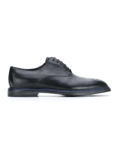 Dolce & Gabbana Lace Up Shoes Leather Black N7jf6Tx