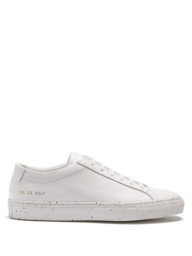 Common Top Achilles Black Projects Speckled Trainers Low White Leather qIrIUzwva