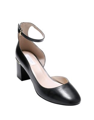 Cole Haan Warner Leather Pumps Black TDr0n