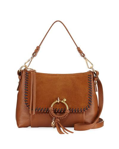 by Leather And See Ring Bag Shoulder Medium Camel Chloe Suede PYYdq7x