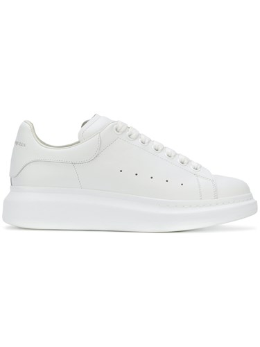 Extended Sneakers Sole McQueen Leather Rubber Alexander White 5qU1WHxn