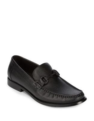 Black Moc Leather Cole Loafers Toe Kenneth 4qASA