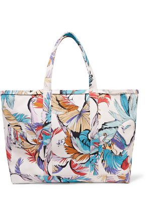Pucci Tote Emilio Printed Leather Canvas Multicolor Trimmed ZnUZqpAwz7