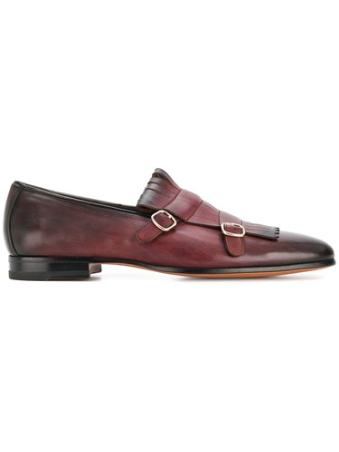 Santoni Double Santoni Brown Double Double Brown Buckle Santoni Loafers Buckle Buckle Loafers ggHxqrdT