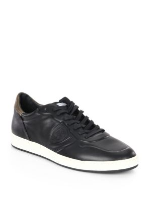 Philippe Model Lakers Leather Low Top Sneakers Black RZ7TdIhFR