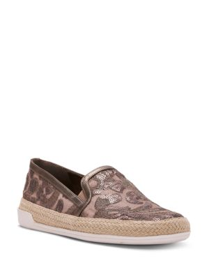 Slip Pliner Donald Pamela On Taupe J Sneakers Sequined Espadrille CSqwBvq
