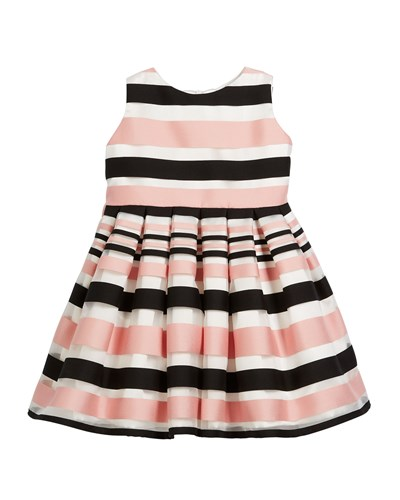 Helena Stripe Pink Satin Helena Satin Dress rfq8Zrx