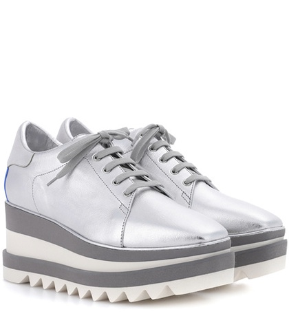 Stella McCartney Sneak Elyse Platform Sneakers Silver uKHwQ