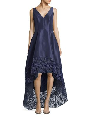 Betsy Lo Navy amp; Gown Hi Adam Sleeveless Embroidered Bwrx6q0BId