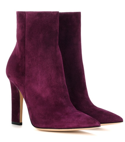 Gianvito Rossi Daryl Suede Ankle Boots Purple 2mXmY