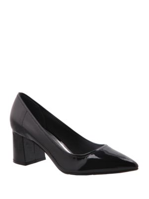 Nina Finley Patent Leather Pumps Black kIcor