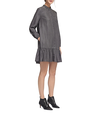 Gray Whistles Hem Dress Drop Shirt nHacqTOH