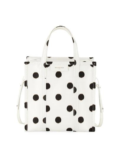 Shopper Tote Aj Bag Black Dot Polka White Balenciaga Bazar Small pYqwUt5