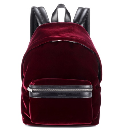 Velvet Laurent Leather Red And Saint Backpack 0Tzq8zw