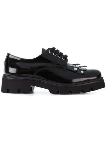 Leather Shoes Chunky Rubber Baldinini Oxford Leather Black Calf ZIfwZxqC