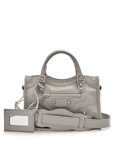 Classic Grey City Balenciaga Light Bag Xs Edge Metallic gdx0Fwq0H7