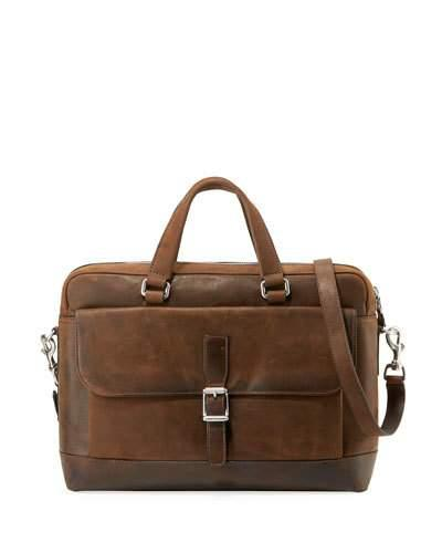 Frye Men's Oliver Two Handle Bag Brown 3nyCZBtbBi
