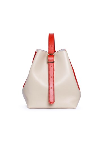 Neutral of Crossbody Leather Colourblock Comfort Creatures Bag Small 'Apple' Oxq8xwz