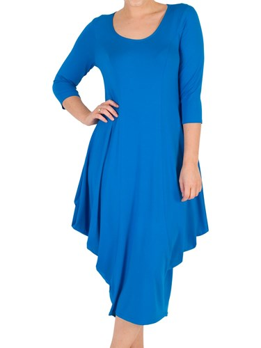 Chesca Princess Seam Jersey Dress Azure CzrUIayKd9