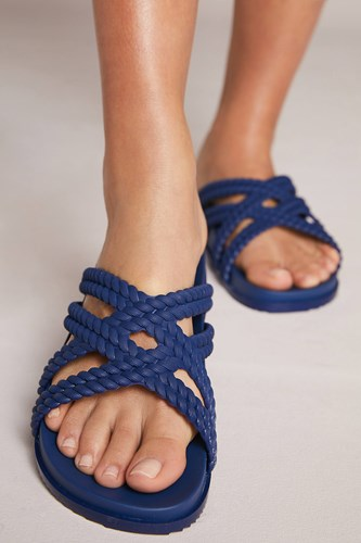 Braided Navy Slide Navy Melissa Sandals Slide Braided Melissa Sandals ZTEXqX
