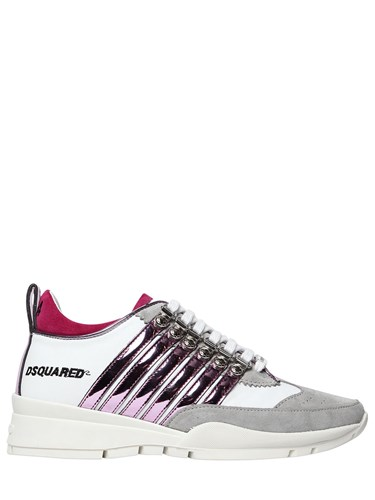 DSquared 251 Sneakers Stripes Metallic Suede 40Mm zzw4rZ