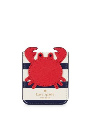 Crab Spade Sticker Leather Kate Pocket Multi Red ZSqxww5