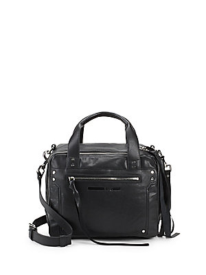 Bag Double by Top Handle Alexander McQueen Leather McQ Black Zip x8PwIPA