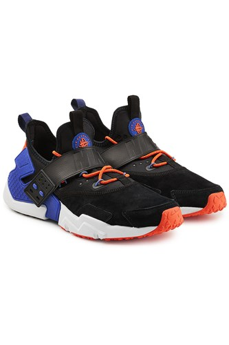 Nike Air Huarache Run Sneakers With Leather And Suede Black qGOZXW5syT