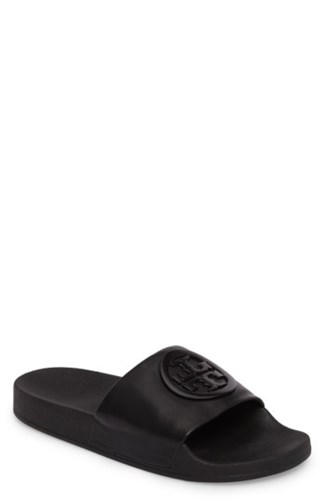 Slide Lina Burch Black Sandal Tory Women's CUHxEZtq