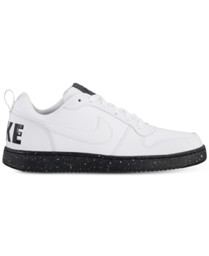 Nike Men's Court Borough Low Se Casual Sneakers From Finish Line White White Black 0hGdBG