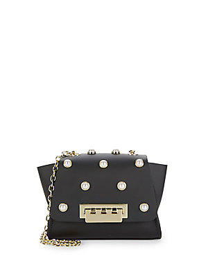 Zac Bag Posen Mini Crossbody Embellished Eartha Black Leather vqvwdYrx