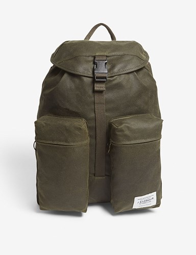Barbour Archive Waxed Cotton Blend Backpack Archive Olive QjZYxEmwl